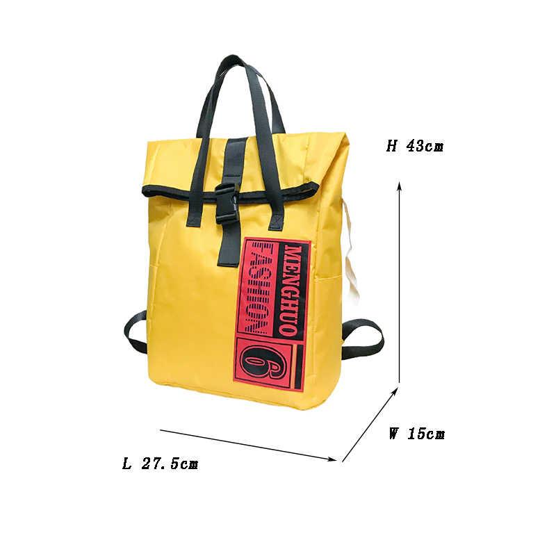 ... Унисекс Желтый Нейлон Мода рюкзак женский рюкзаки дизайн для обувь  девочек отдыха и путешествий школьный простой b315957284f
