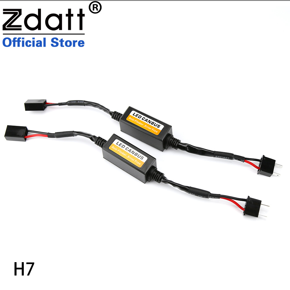 Zdatt светодиодные фары декодер H1 H4 H7 <font><b>H8</b></font> H9 H11 9005 HB3 9006 HB4 никакой ошибки canubs Универсальный