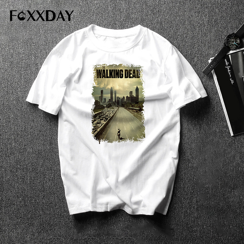 2018 New summer Men's T-shirt Streetwear The Walking Dead T shirt Men 24 kind Short Sleeve Casual Anime male Tee Shirt Tops