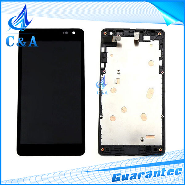 1 piece tested free shipping replacement part 2S for Nokia Lumia 535 N535 lcd display+touch screen digitizer with frame assembly
