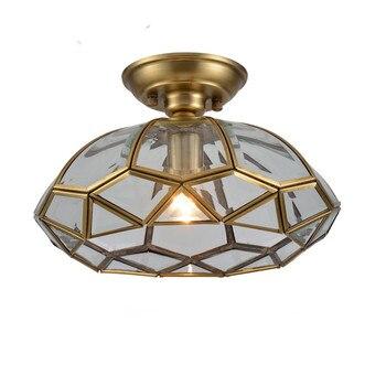 European-style copper ceiling light aisle lamp bedroom light house balcony lamp