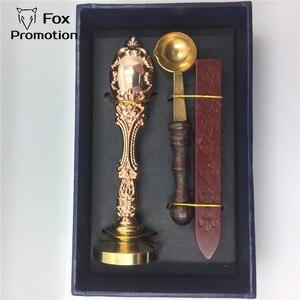 Image 5 - Caja de regalo de sello de cera personalizada cuchara de latón de sello de cobre, juego de sellos de sello antiguo de regalo de liga de bricolaje, vintage y de alta calidad