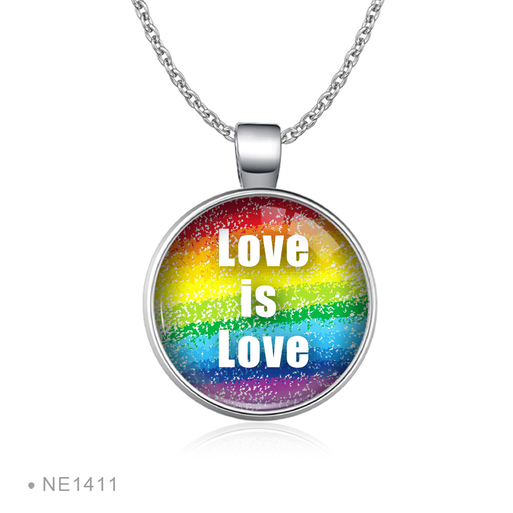 2019 New Arrival Lesbian Gay Pride Earrings Colorful Rainbow Round Glass Dome Stud Earrings For Women Lgbt Jewelry Accessories,6,Bronze Color