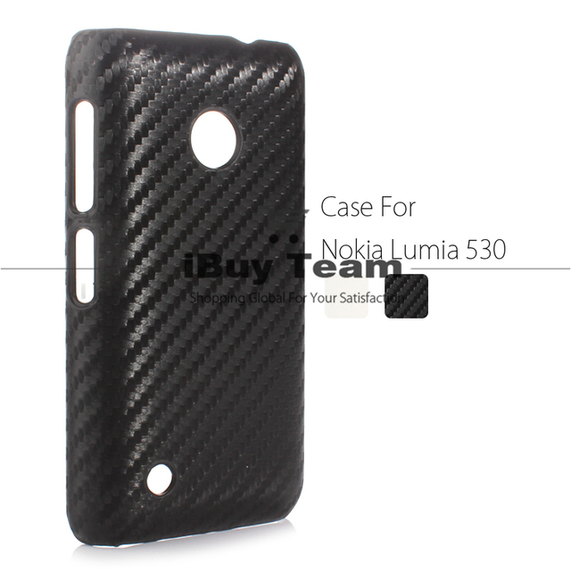 low priced bcdeb 9eeb5 US $3.25 5% OFF|for Nokia Lumia 530 Case Cover Carbon Fiber Hard Plastic  Woven Pattern Back Cover for Nokia Lumia 530 Dual SIM RM 1019 Black-in  Fitted ...