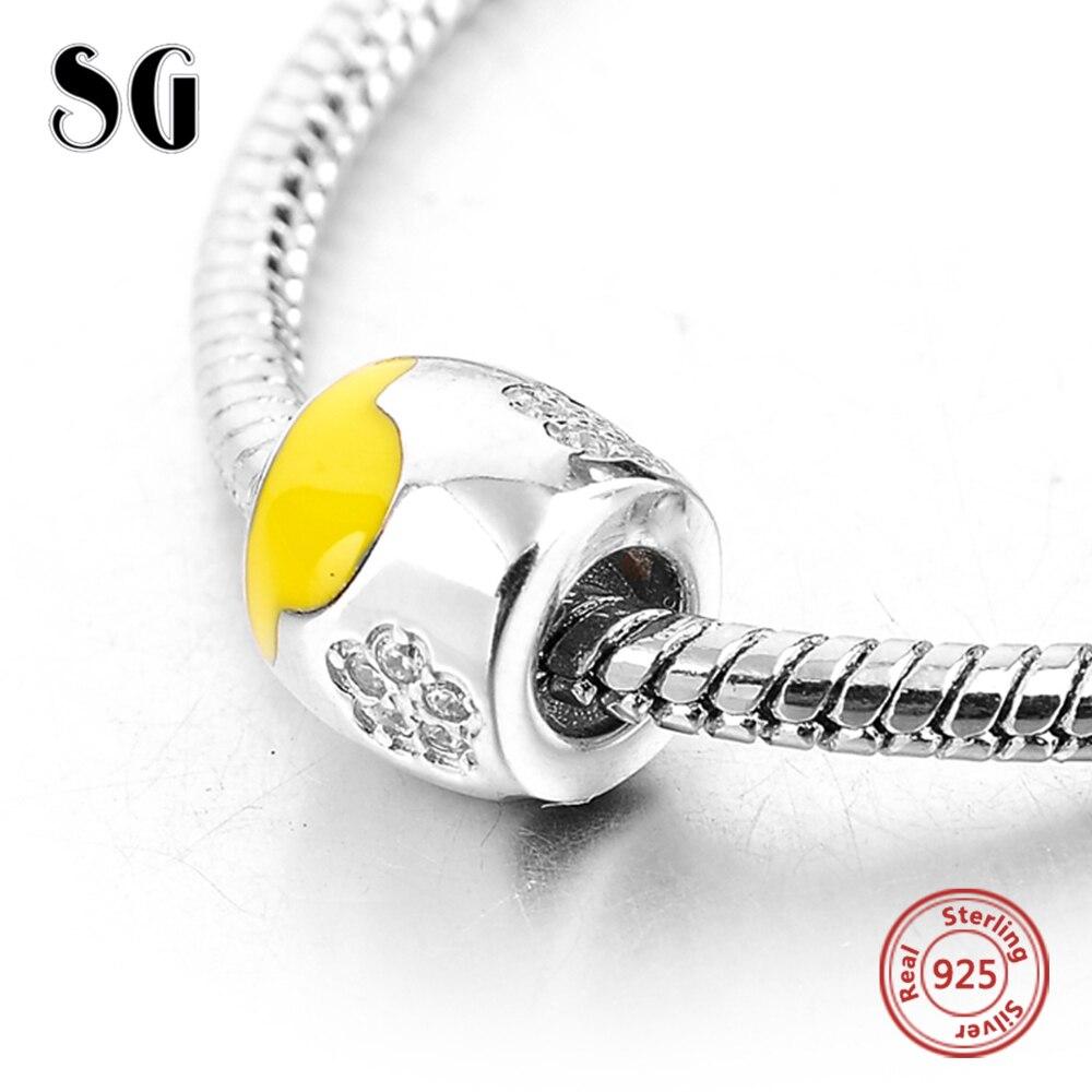 Silver Galaxy Flower with Zircon Pendant Beads For Women Bracelet Fit Pandora Charms Silver 925 Original Fashion DIY Jewelry