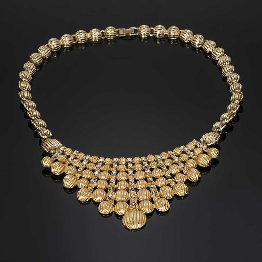 MUKUN Bridal gift african beads jewelry set Nigerian Wedding Jewelry Set For Women Choker Fashion Jewellery Dubai jewelry sets