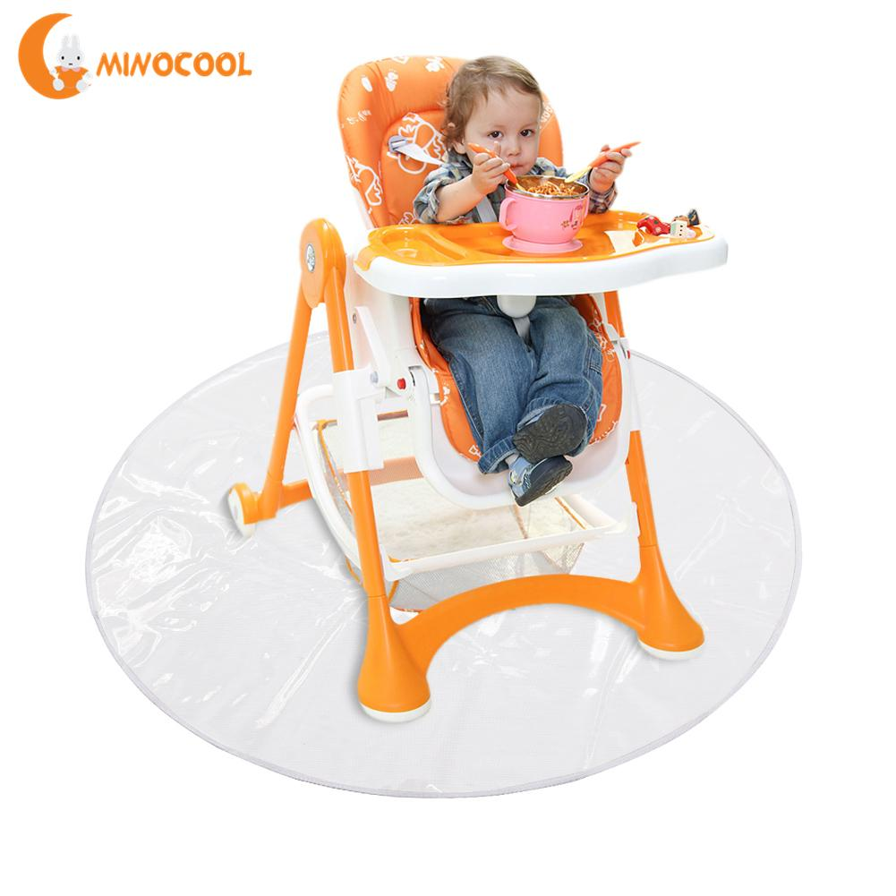 Kids Crawling Mat Children Dining Chair Pad Dirt-proof Outdoor Ground Mat Transparent Easy To Clean for Baby Playing Mat