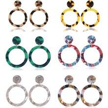 Exaggeration Leopard Earrings Vintage Statement Geometric Acrylic Drop Earrings For Women 2019 Fashion Female Earrings Jewelry цены