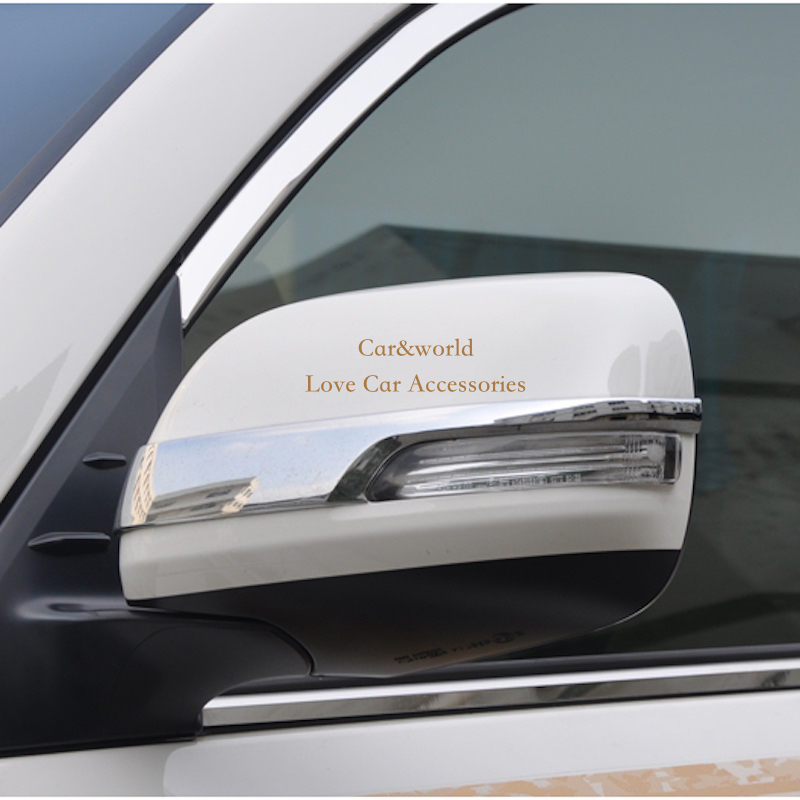 For 2012 to 2016 Toyota Land Cruiser 200 Rear View Mirror Cover Side Door Molding Trim Chrome Decoration Car-Covers Accessories