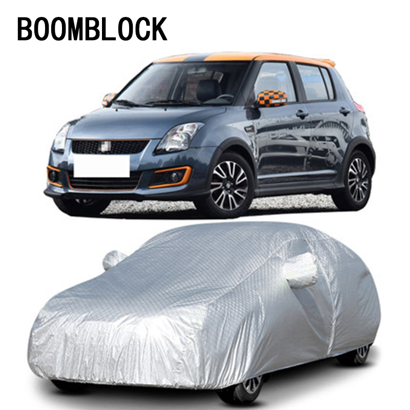 BOOMBLOCK Hatchback M Waterproof Dustproof Car covers for Mini Cooper R50 R53 Citroen C2 Suzuki Swift Alto Fiat 500 Accessories