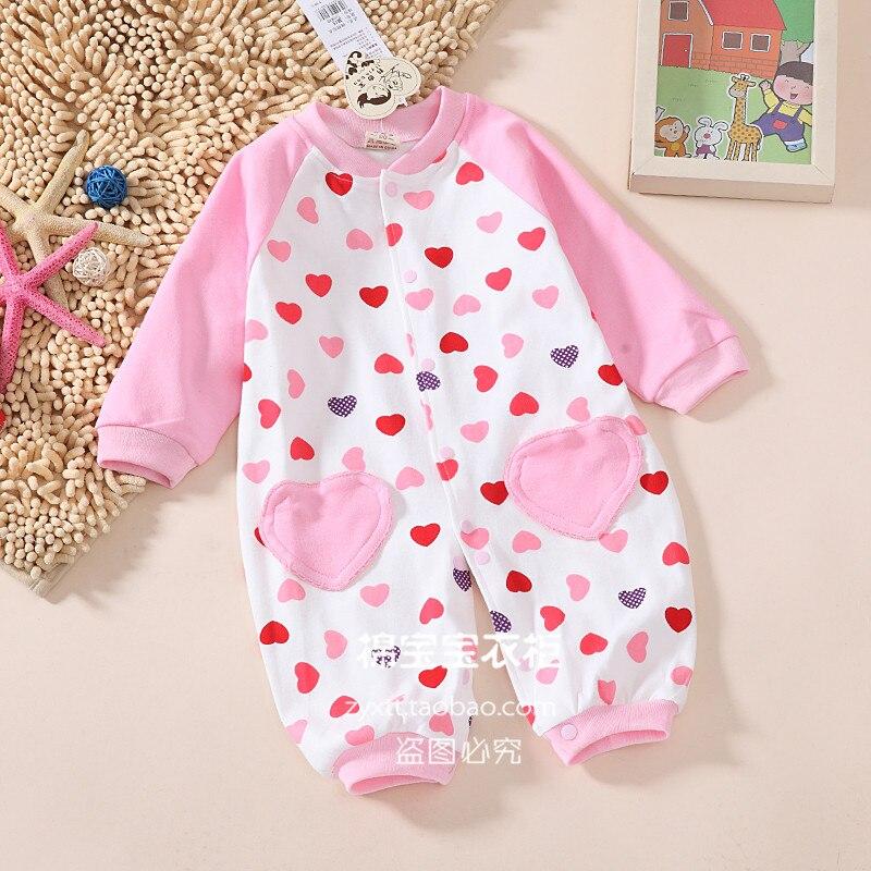 1446bbc3d5b16 Newborn baby clothes jumpsuits 0 1 year old female baby autumn wear long  sleeved clothing infant cotton ha en Monos de Mamá y bebé en AliExpress.com  ...