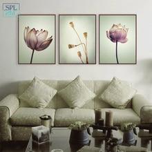 SPLSPL Zen тематический цветок холст искусство печать постер Лотос настенные картины для дома гостиной украшение без рамки