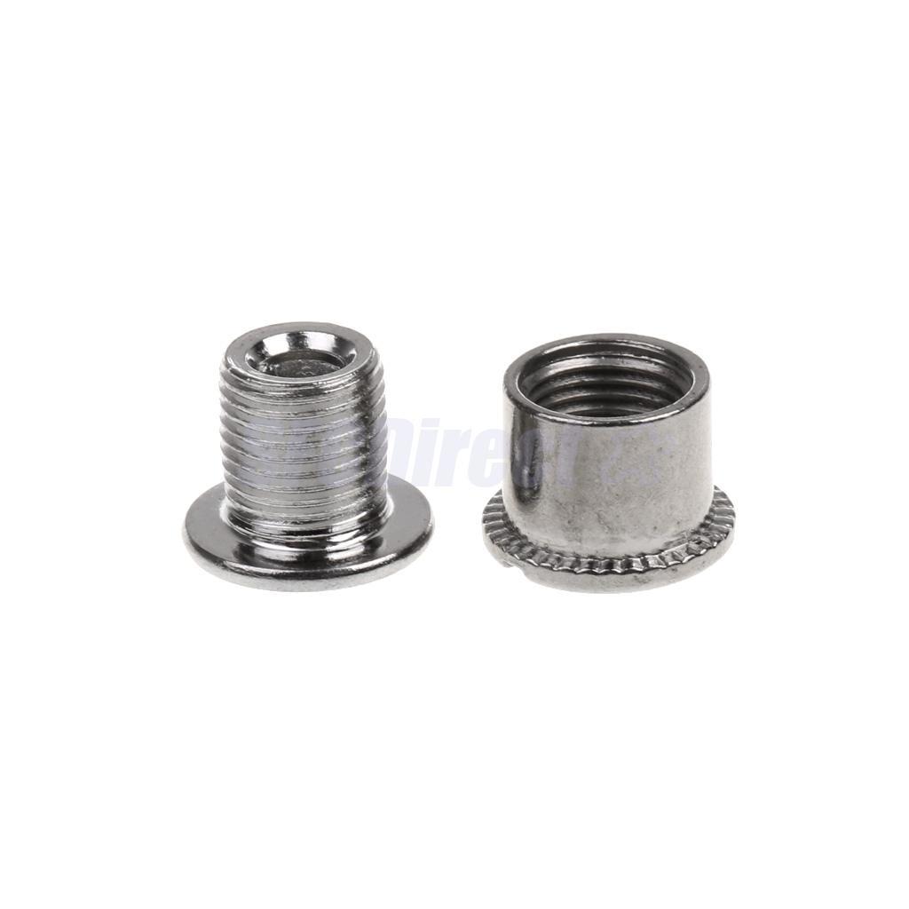 10 Pairs Steel Crankset Bolts Chainring Bolts Chainwheel Bolts Silver-B C