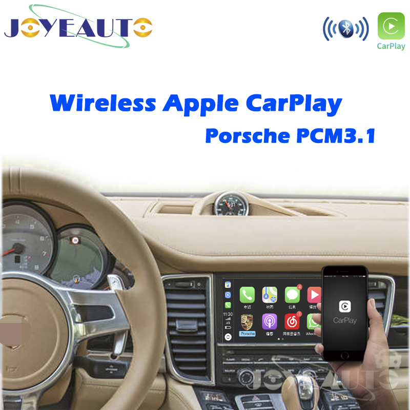 Joyeauto Wireless Apple Carplay Porsche PCM3.1 Android Auto For Cayenne Macan Cayman Panamera Boxster 718 911 Multimedia Mirror