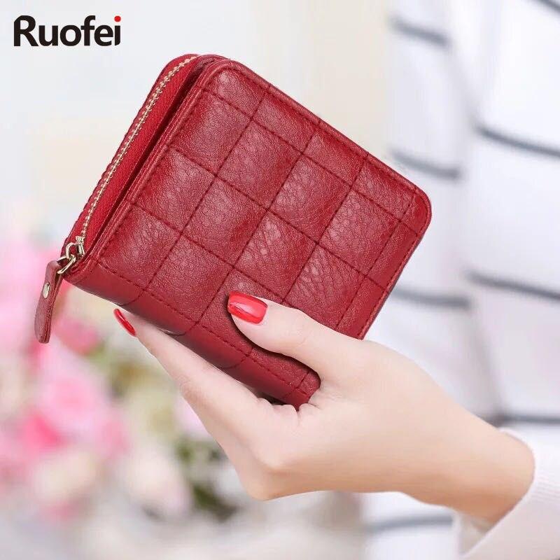 New 2017 Designer Brand Name Luxury Ladies Purse Wallets Women Little Wallet Sticks Portomonee Combination Lady Short Carter
