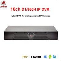 Economic 16CH DVR D1 960H CCTV Recorder HDMI H 264 Network Recorder IP DVR NVR 16