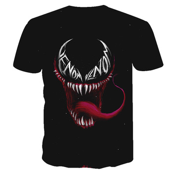 2019 New Men 3D T shirt Summer Fashion Poison T-shirt short-sleeved Round Neck Quick-drying Casual tshirt Hip tops Venom Skull 1