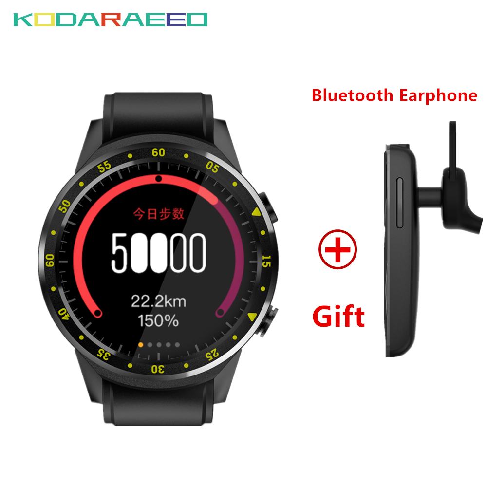 F1 Smart Watch 1.3''Multi-sport Dials Mode GPS Sim TF Heart Rate Sleep Monitor Smartwatch for IOS Android+Free Bluetooth Headset bluetooth smart watch heart rate monitor sleep monitoring smart bracelet support sim tf sd card for ios android multi languages