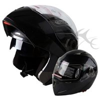 Free Shipping DOT Motorcycle Carbon Modular Flip Up Dual Visor Sport Motocross Helmet Adult