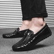 Мужская обувь с открытым носком; повседневная обувь из искусственной кожи; мокасины; мужские лоферы; Tenis Masculino; большие размеры взрослый ручной работы слипоны водонепроницаемые мокасины на плоской подошве; мужская обувь