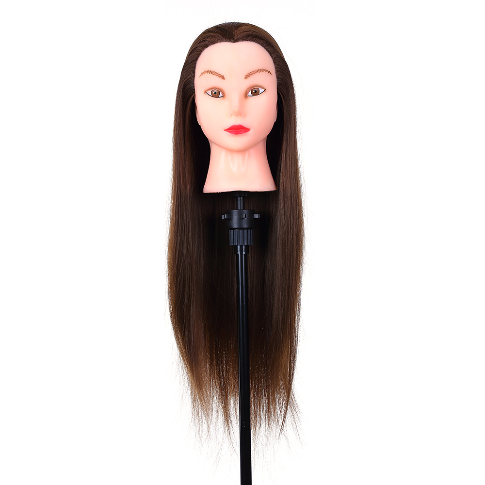 24inch Hairdressing Dolls Head Female Mannequin Training Head for Hair Styling Practice Dummy Head Practice Model for Braiding
