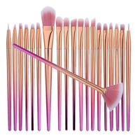 Professional 20 Pieces Kabuki Face Lip Eye Makeup Brushes Set Eyeshadow Eyeliner Eyebrow Powder Beauty Comestic