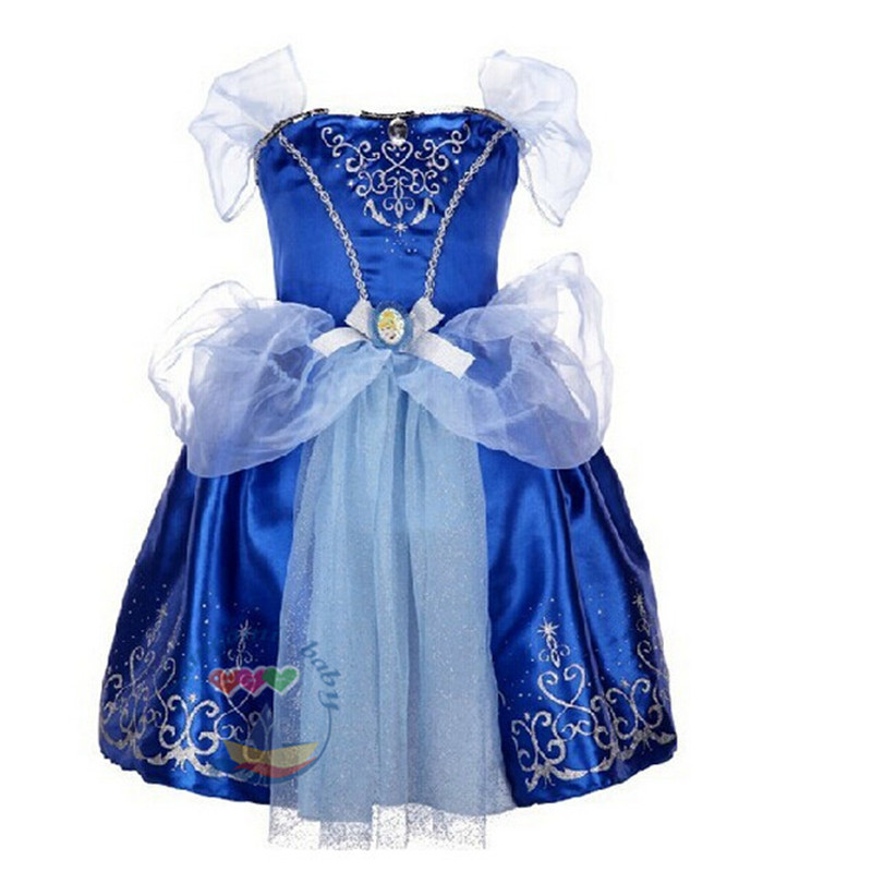 Disney Store Deluxe Cinderella Costume For Baby Toddler 2t: 2015 New Baby Girls Dress Vestidos Infantis Movie Cosplay