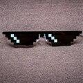 Справиться С Ней Очки Thug Life Minecraft Мужчины Женщин Солнцезащитные Очки Черный Мозаика 8 Бит Пиксела Очки мужские женские бренд Очки
