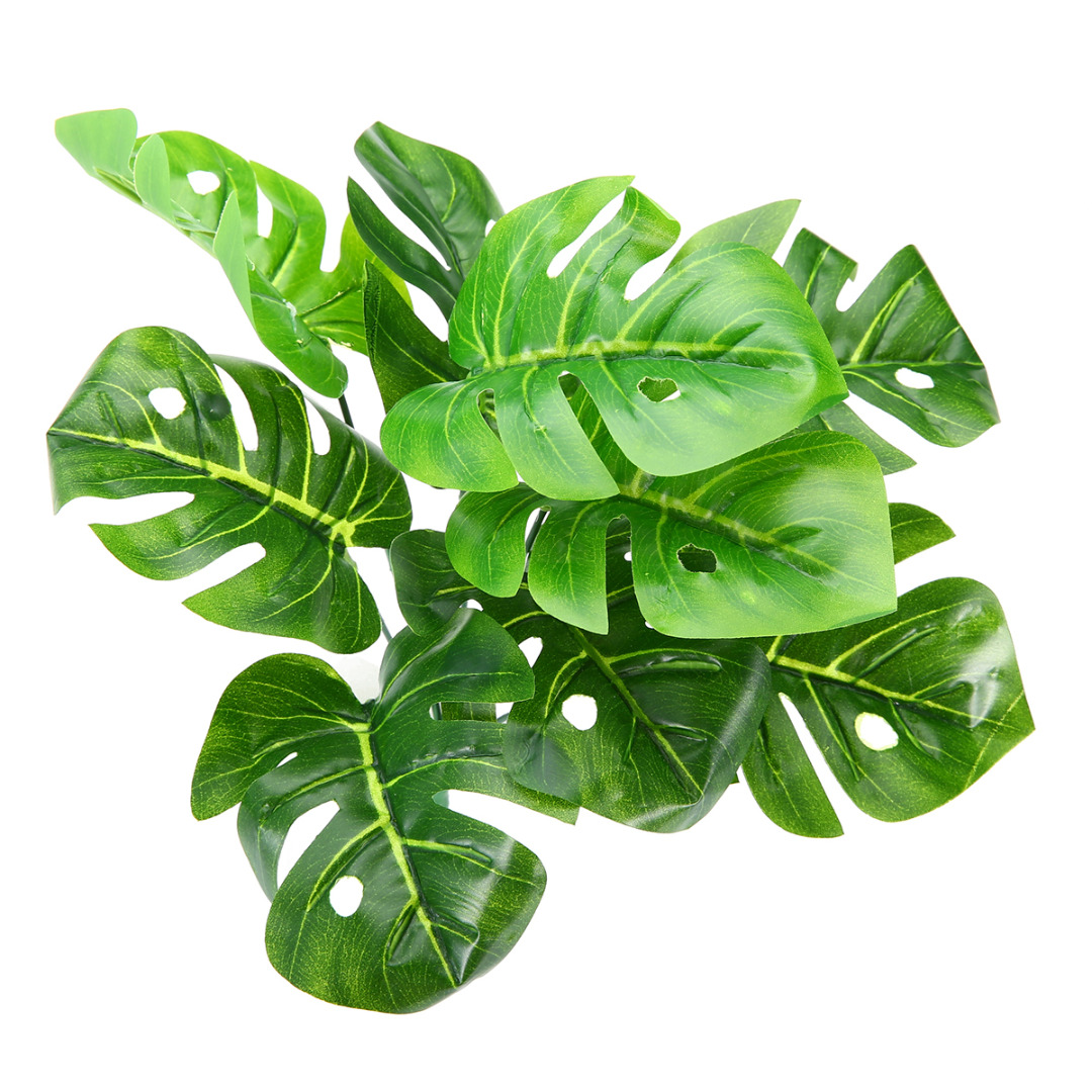 Artificial Fake Plant Foliage Leaves Green Garland Artificial Tropical Palm Leaves for Home Garden Wedding Party Decoration