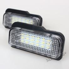 2Pcs 18-SMD Error Free LED License Plate Light Lamps  For Mercedes-Benz W211 4D W203 5D W219 R171 2D 12V