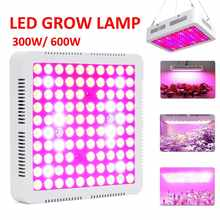 Garden Supplies 300W 600W Full Spectrum Red/Blue/White/UV/IR 100 LEDS Hydroponic Plant Grow Light Indoor Lamp for Greenhouses(China)