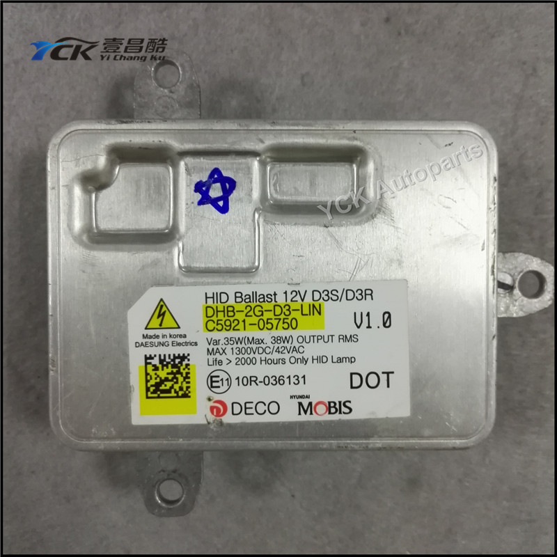 Veleprodaja YCK Original 1PC HID Xenon D3S D3R Balast 10R-036131 10R036131 C5921-05750 (Originalno i Korišteno)