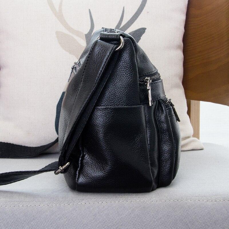 Marque Designer 2019 femmes en cuir véritable Vintage unique sac à bandoulière femmes sacs à bandoulière sacs à main pour dames - 3