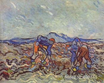 Paintings of Vincent Van Gogh Farmers at work art reproductions for sale High quality Handmade