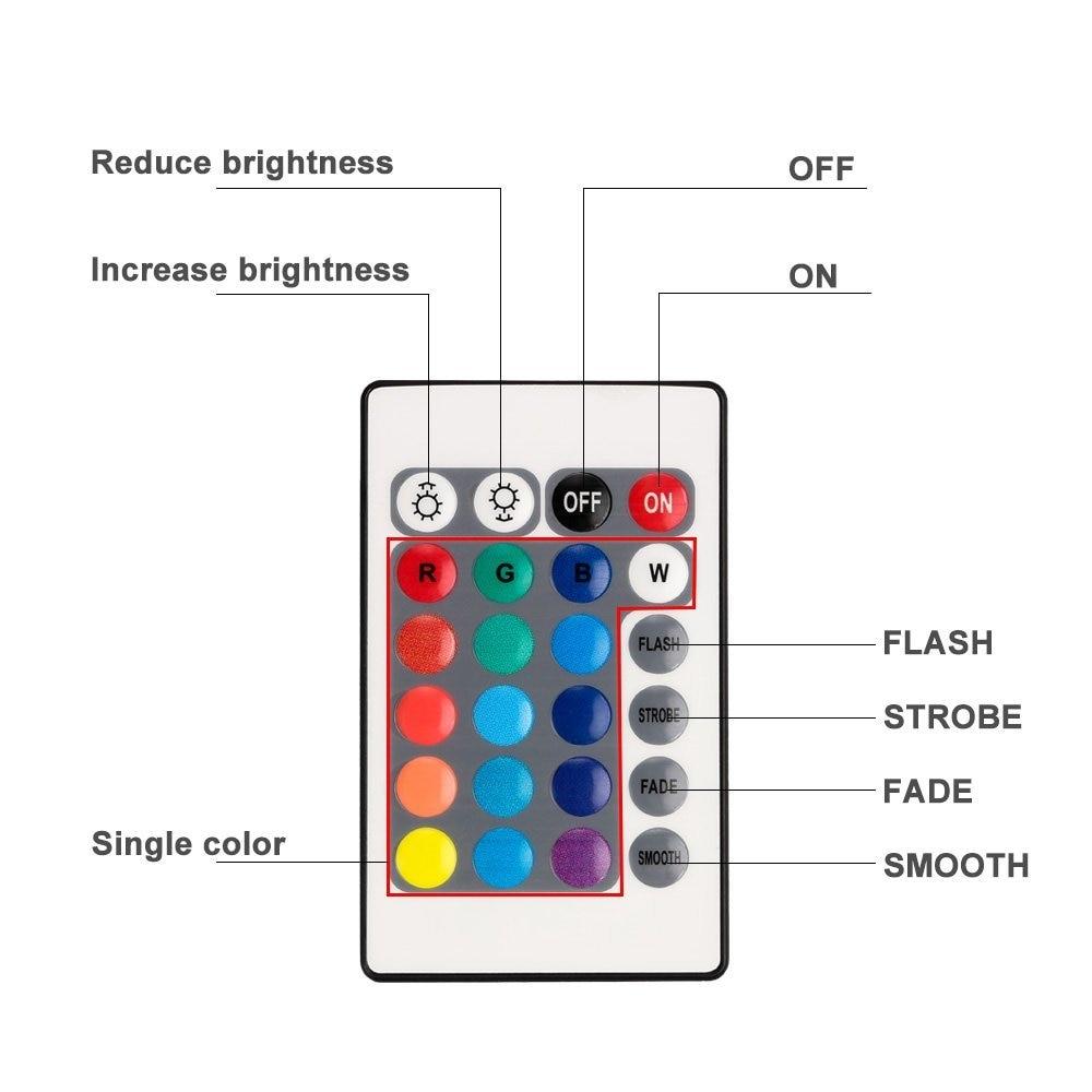 Daljinski upravljani RGB uronjeni LED svjetla AAA LED svjetiljke s - Rasvjeta za odmor - Foto 6