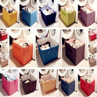 Japanese type receive contracted laundry basket storage baskets clothes basket toy basket