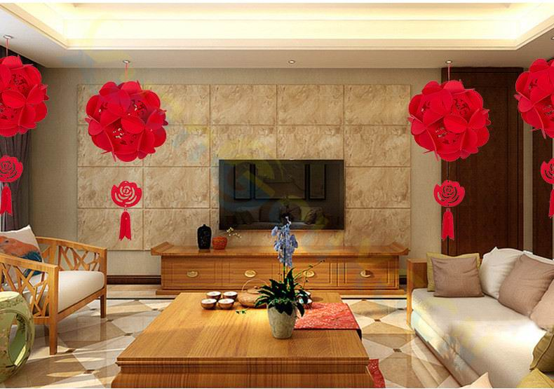 10pcs Diy Non Woven Chinese New Year