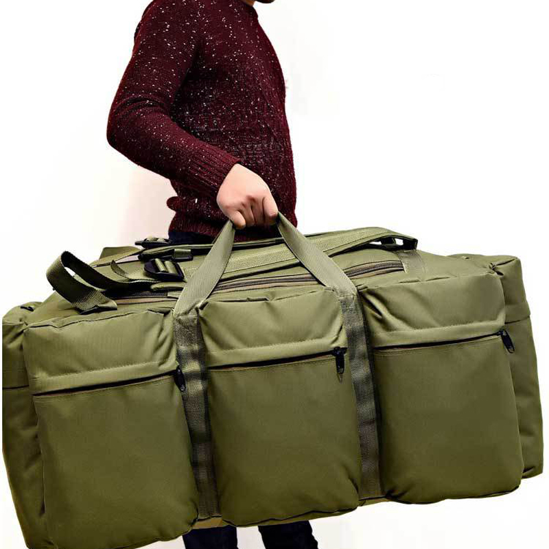 90L Outdoor Mountain Climbing Duffle Bags Camouflage Mountaineering Bag Large Capacity Military Tactical Backpack for Camping