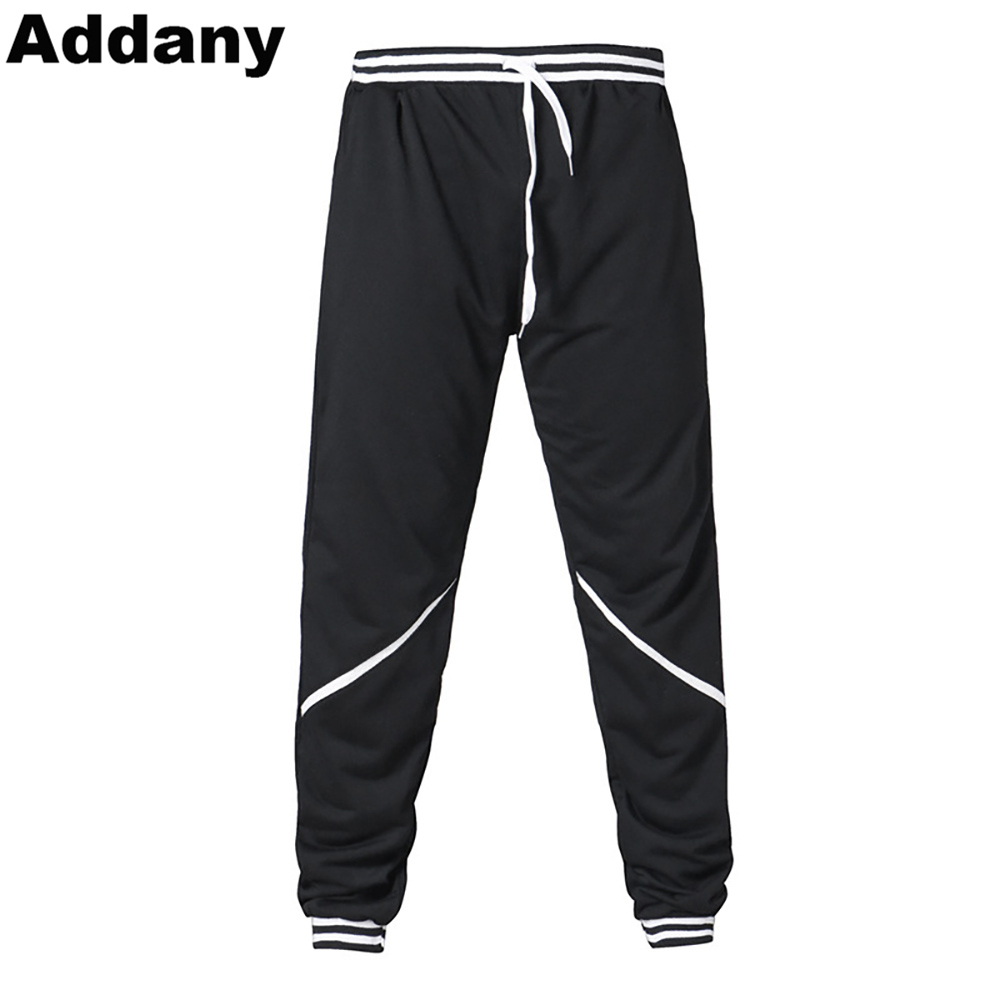 ADDANY 2018 New Spring Jogger Pants Men Cotton Patchwork Sweatpants Fitted Sweat Pants Active Casual Trousers Track Pant