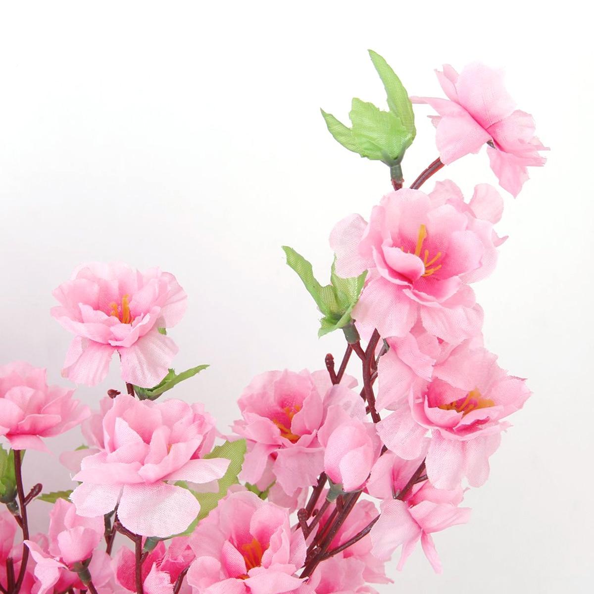 6st persika blomma simulering blommor konstgjorda blommor siden - Semester och fester - Foto 3