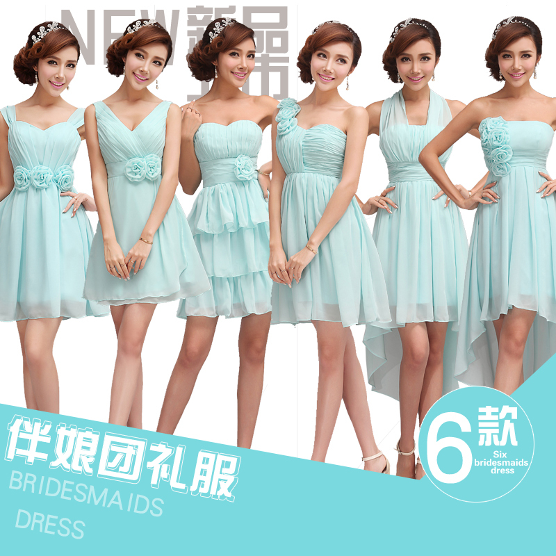 New The Bridesmaids Group Wedding Party Dress 6 Different Styles ...