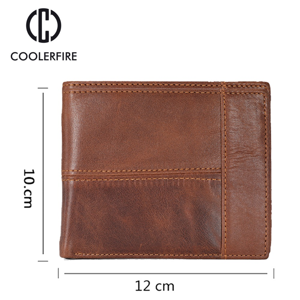 Purse For Men Genuine Leather Men 39 s Wallets Thin Male Wallet Card Holder Cowskin Soft Mini Purses PJ002 in Wallets from Luggage amp Bags
