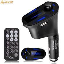 цена на Wireless Bluetooth Car Kit FM Transmitter LCD Screen Modulator USB SD MMC MP3 Player Remote Control Handsfree Calls