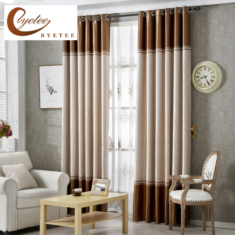 Byetee High Quality Curtains Fabric Stripe Drapes Curtain Blackout Curtains For Bedroom
