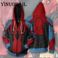 Superheroes Captain Venom Jacket Spiderman 3D Printed Hoodies Marvel Mens Sweatshirt Men