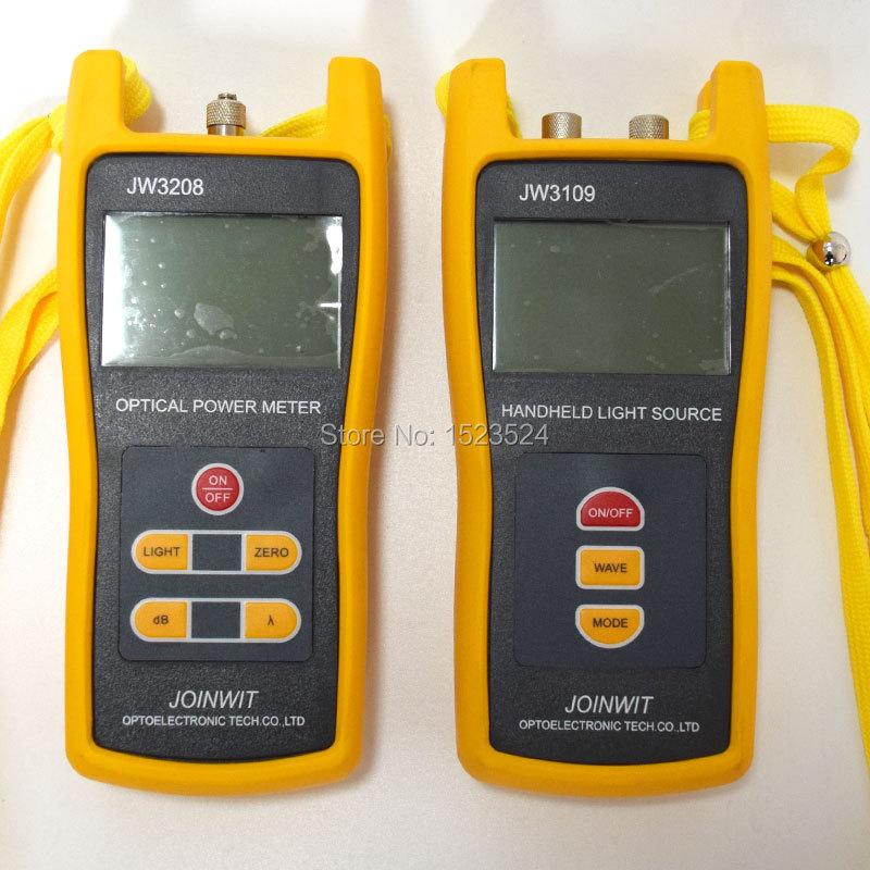 Fiber Optic Multimeter SM MM JW3208C Handheld 50 26dBm Optical Power Meter JW3109 Optical Light Source