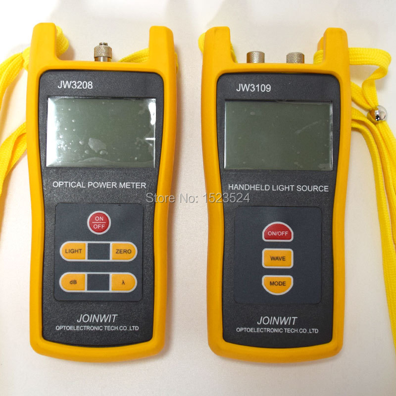 Fiber Optic Multimeter SM&MM JW3208C Handheld -50~+26dBm Optical Power Meter +JW3109 Optical Light Source 850/1300/1310/1550nmFiber Optic Multimeter SM&MM JW3208C Handheld -50~+26dBm Optical Power Meter +JW3109 Optical Light Source 850/1300/1310/1550nm