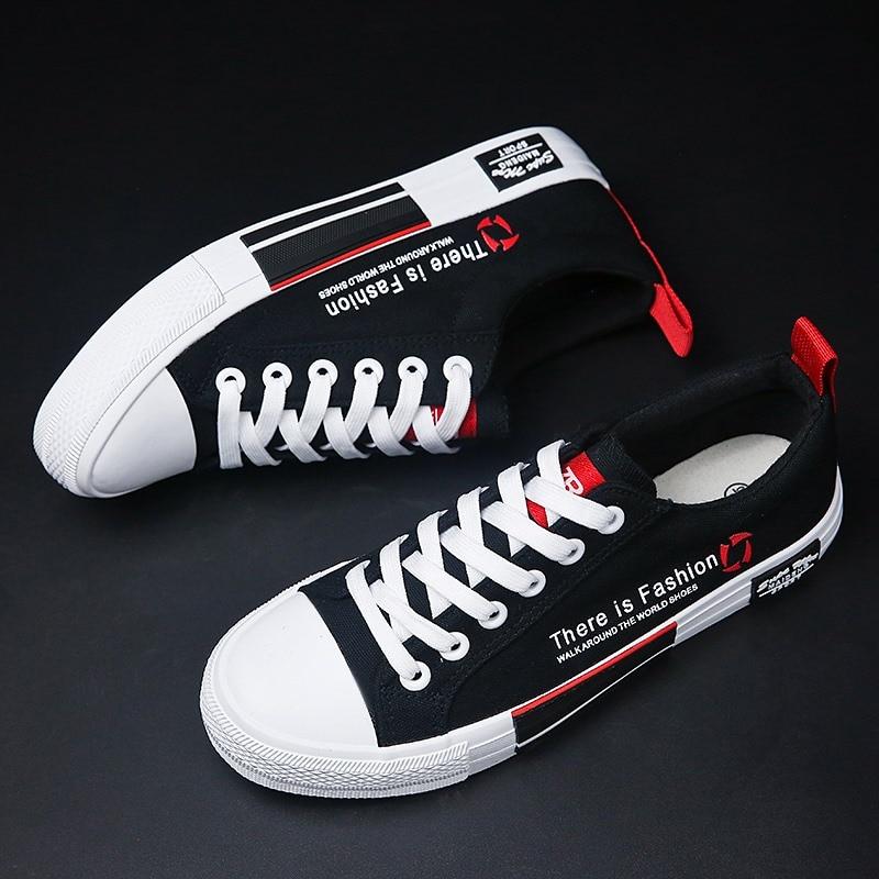 2019 Jungen Vulkanisierte Schuhe Studenten Leinwand Bord Schuhe Atmungsaktiv Bequeme Flache Schuhe Männer Skateboard Schuhe