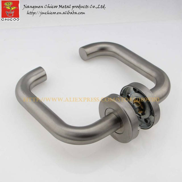 Wholesale 10sets Stainless Steel 304 Lever Type Door Handle,interior Door  Lever Handles,tube
