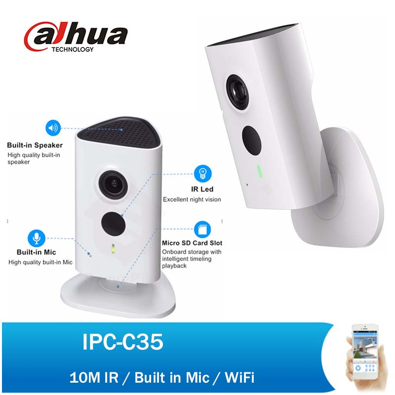 Dahua 3MP WiFi PT Camera IPC-C35 1080P Indoor Security Network Mini Camera Baby Monitor Built-in Mic & Speaker with logo